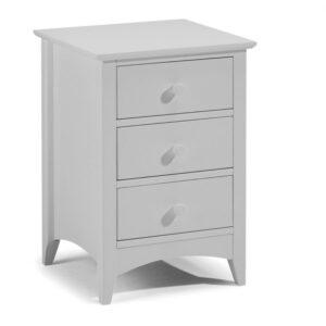 3 Drawer Bedside Dove Grey