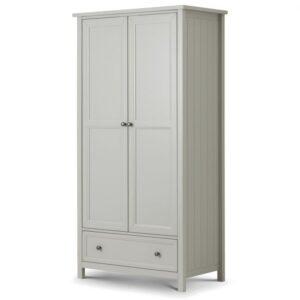 Maine 2 door combination wardrobe in dove grey