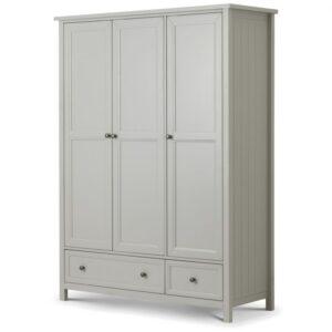 Maine 3 door combination wardrobe in dove grey