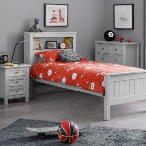 Maine Dove Grey Bookcase Bed