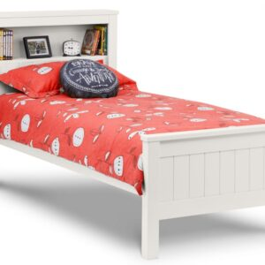Maine Surf White Bookcase Bed Frame