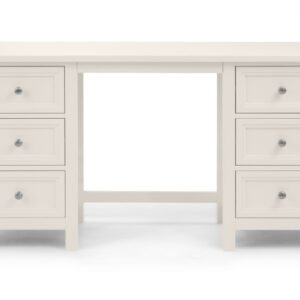 Maine Surf White Dressing Table Front FAcing