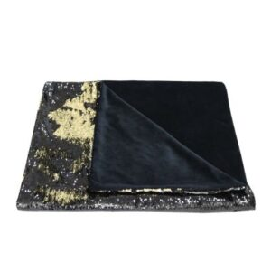 Black and Gold Sequin Throw