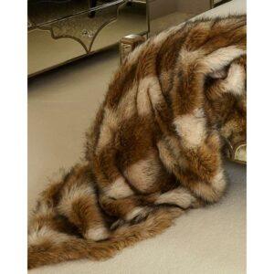 Sable Faux Fur Throw